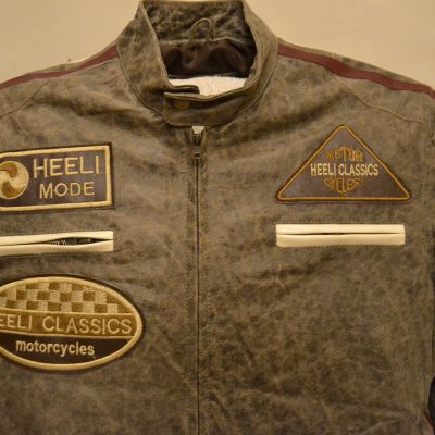 Harley style Distressed look Brown real Leather Jacket