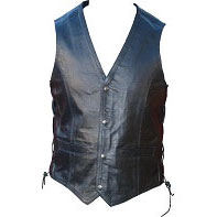 Black Leather or antique brown Waistcoat with side laces